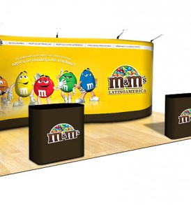 20 Foot Tension Fabric Trade Show Display