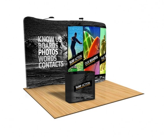 10 Foot Tension Fabric Trade Show Display