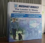 MedNet Direct 8ft Velco Popup Display