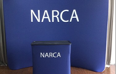 NARCA 10ft Curved Tension Fabric and Podium