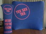 TeeSeeTee 8ft Curved Tension Fabric Display, Banner Stand