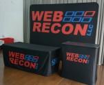 WebRecon 10ft Flat Tension Fabric Display, Podium, Tablecloth