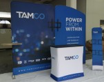 Tamco 10ft Display with Monitor Mount, Podium and Literature Stand