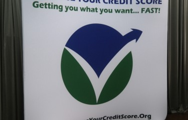 Increase Your Credit Score 8ft curved display